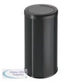 Big Bin Touch Round Stainless Steel and Coated Sheet Steel 45 Litre Black Ref 0845-140