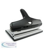 Rapesco ALU Adjustable Punch 2 3 or 4 Hole Black/Silver Ref 1205