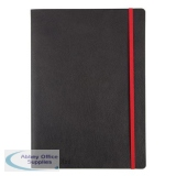 Black By Black n Red Business Journal Book Soft Cover 90gsm Ruled and Numbered 144pp B5 Ref 400051203