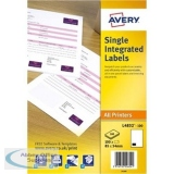 Avery Integrated Single Label Sheet 85x54mm White Ref L4832-100 [100 Sheets]