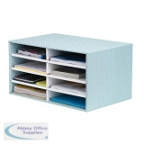 Bankers Box by Fellowes Desktop Sorter Stackable Fastfold Recycled FSC A4 Green/White Ref 4472601