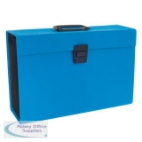 Rexel JOY Expanding Organiser Box File 19 Part A-Z Blissful Blue Foolscap Ref 2104019