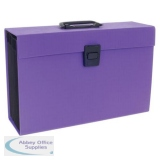 Rexel JOY Expanding Organiser Box File 19 Part A-Z Perfect Purple Foolscap Ref 2104020
