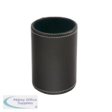 5 Star Elite Pen Holder Faux Leather Brown