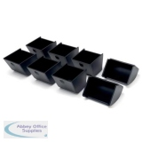 Safescan 4617CC Coin Cups for SD-4617S Flip Top Metal Cash Drawer Black Ref 135-0478 [Pack 8]