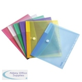 Tarifold Color Polypropylene Punched Envelope Velcro 316x240mm A4 Assorted Ref TAE510229 [Pack 12]