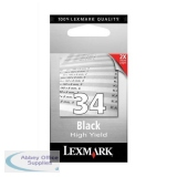 Lexmark No34 High Yield Inkjet Cartridge Black 18C0034E