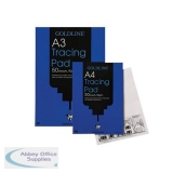 Goldline Professional Tracing Pad 90gsm Acid-free Paper 50 Sheets A4 Ref GPT1A4Z [Pack 5]