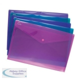 Snopake Polyfile Electra Wallet File Polypropylene A5 Assorted Ref 11355 [Pack 5]