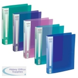 Snopake Electra Ring Binder Polypropylene 2 O-Ring 25mm Size A4 Assorted Ref 10165 [Pack 10]