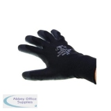 Polyco Gloves Seamless Polyurethane Palm Breathable Size 10 Black [12 Pairs] Ref 4o4-MAT