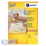 Avery Multipurpose Label Laser Copier Inkjet 4 per Sheet 105x148mm White Ref 3483 [400 Labels]