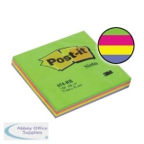 Post-it Rainbow Pads 76x76mm Spring Ref 654RBSP [Pack 12]