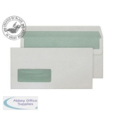Purely Environmental Wallet Self Seal Wndw 90gsm DL Natural White Ref RE4360 Pk500 *3to5 Day Leadtime*