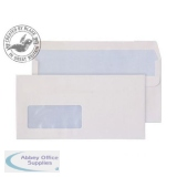 Purely Everyday Wallet Self Seal Window 100gsm DL 110x220mm White Ref 7774 Pk500 *3to5 Day Leadtime*