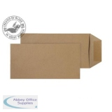 Purely Everyday Pocket Self Seal Manilla 80gsm DL 220x110mm Ref 2244 [Pack 500] *10 Day Leadtime*