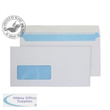 Purely Environmental Wallet P&S Window 110gsm DL 110x220mm White Ref FSC067 Pk500 *3to5 Day Leadtime*