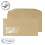 Blake Purely Everyday DL Mailing Wallet Gum Window 80gsm Manilla Ref 13810 [Pack1000] *3to5 Day Leadtime*