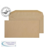 Purely Everyday Mailer Gummed Manilla 80gsm DL+ 121x235mm Ref 1004 [Pack 1000] *10 Day Leadtime*