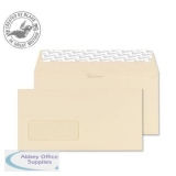 Blake Premium Business Wallet Wndw P&S 120gsm DL 110x220mm Cream Ref 61884 Pk500 *3to5 Day Leadtime*