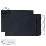 Creative Colour Jet Black P&S Gusset C5 229x162x25mm Ref 6140 [Pack 125] *10 Day Leadtime*