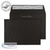 Creative Colour Jet Black Peel and Seal Wallet C6 114x162mm Ref 114 [Pack 500] *3 to 5 Day Leadtime*