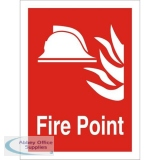 Stewart Superior Fire Fighting Sign 200x300 Fire Point Ref FF070SRP-200X300 *Up to 10 Day Leadtime*