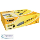 Bic Grip Pen-shaped Highlighter Extra Large Yellow Ref 891396 [Pack 10]
