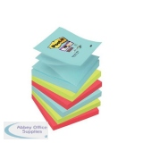 Post-It Super Sticky Z-Notes Miami 76x76mm Aqua Neon Green Pink Poppy Ref R330-6SS-MIA [Pack 6]
