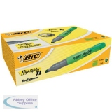 Bic Grip Pen-shaped Highlighter Extra Large Green Ref 891398 [Pack 10]