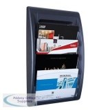 Fast Paper Quick Fit Wall Display 4 Pockets A4 Landscape Black Ref F406001