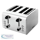 Igenix 4 Slice Long Toaster Stainless Steel Ref IG3204