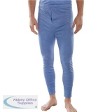 Click Workwear Thermal Long John Trousers Small Blue Ref THLJS *Up to 3 Day Leadtime*