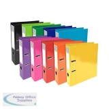 Iderama Lever Arch Files Pressboard 70mm Spine A4 Assorted Ref 53629E [Pack 10]