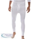 Click Workwear Thermal Long John Trousers Large White Ref THLJWL *Up to 3 Day Leadtime*