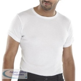 Click Workwear Vest Short Sleeve Thermal Lightweight S White Ref THVSSWS *Up to 3 Day Leadtime*