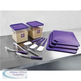 Food Service Kit 12 Piece Colour-coded Purple