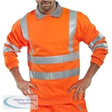 B-Seen Sweatshirt Hi-Vis Polyester 280gsm 2XL Orange Ref BSSENORXXL *Up to 3 Day Leadtime*