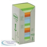 Post-it Z-Note Tower Recycled 100 Sheets per Pad 76x76mm Pastel Assorted Ref R3301RPT [Pack 16]