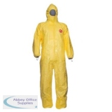Tychem C Model CHA5 Hooded Coverall 2XL Yellow Ref TYCBSXXL *Up to 3 Day Leadtime*