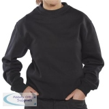 Click Premium Sweatshirt 365gsm L Black Ref CPPCSBLL *Up to 3 Day Leadtime*
