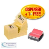 Post-it Pro Z-Note Dispenser and Super Sticky Pads 76x76mm [16 Pads] Ref R330-SSCYP16
