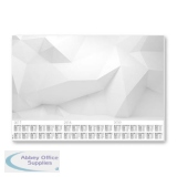 Sigel Paper Desk Pad with 3-year Calendar 80gsm 595x410mm 30 Sheets Grey/White Ref HO460