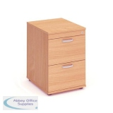 Trexus 2 Drawer Filing Cabinet 500x600x800mm Beech Ref I000072