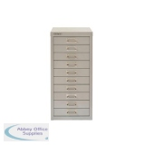 Bisley SoHo 10 Drawer Multidrawer 279x380x590mm Grey Ref H2910NL-av4