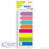 Stickn Index Arrows Page Markers 12mm Assorted Colours [200 Flags] Ref 21346
