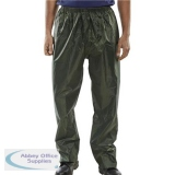 B-Dri Weatherproof Trousers Nylon Lightweight 2XL Olive Green Ref NBDTOXXL *Up to 3 Day Leadtime*
