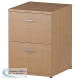 Trexus 2 Drawer Filing Cabinet 500x600x800mm Oak Ref I000780