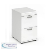 Trexus 2 Drawer Filing Cabinet 500x600x800mm White Ref I000192