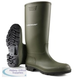 Dunlop Pricemastor Wellington Boot Size 10 Green Ref BBG10 *Up to 3 Day Leadtime*